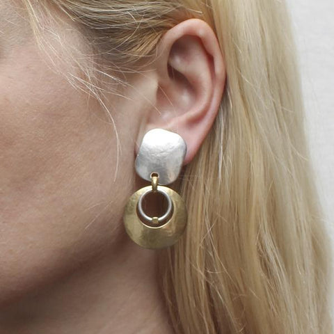 Marjorie Baer Crescant Hoop Clip Earrings On Ear