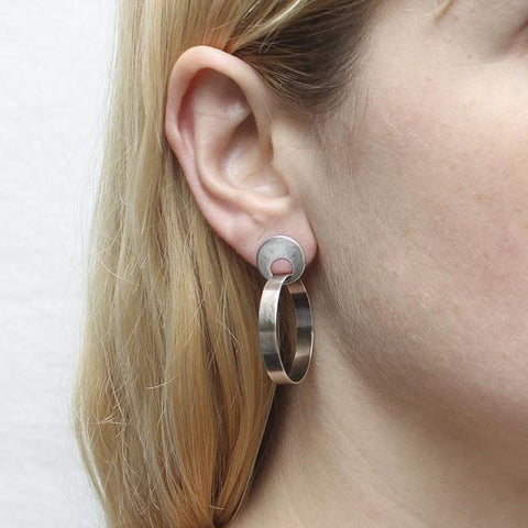 Marjorie Baer Open Disc Hoop Post Earrings Another View