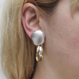 Marjorie Baer Double Hoop Clip Earrings On Ear