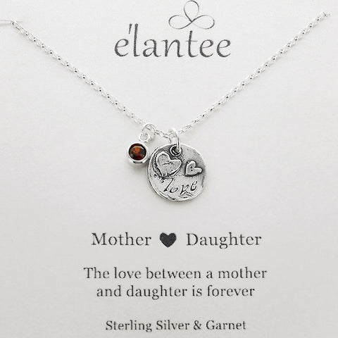 Love Between Mother And Daughter Necklace On Card