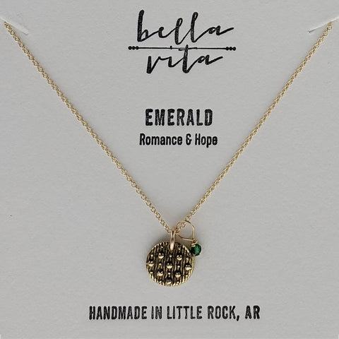 Night Sky Romance Hope Emerald Necklace