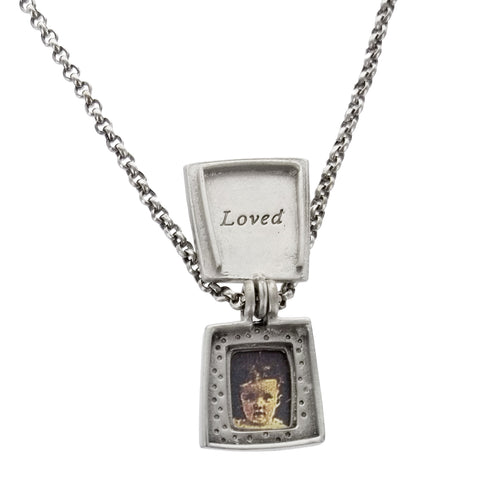 Emily Rosenfeld Heart Love Locket Necklace Open View