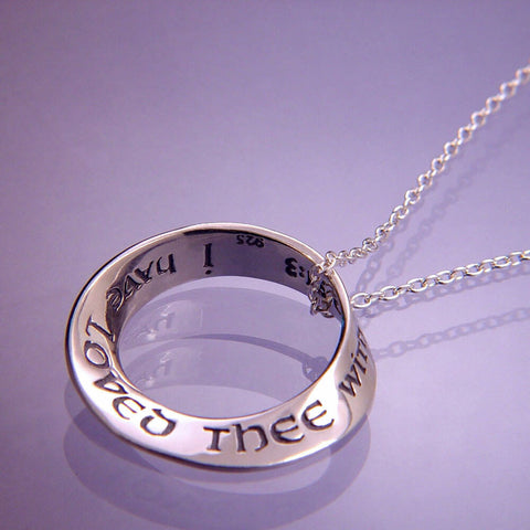 Everlasting Love Mobius Quote Necklace