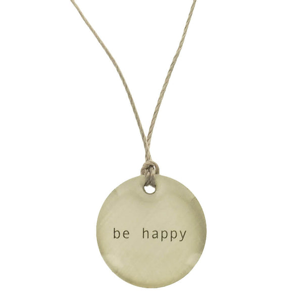 Everyday Artifact Be Happy Necklace