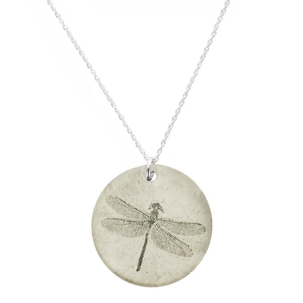 Everyday Artifact Dragonfly Round Pendant Necklace
