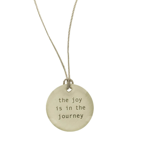 Everyday Artifact The Joy Is In The Journey Necklace