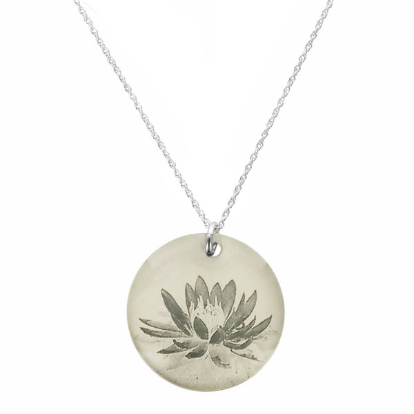 Everyday Artifact Lotus Flower Pendant Necklace