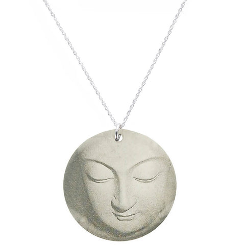 Everyday Artifact Round Pendant Buddha Necklace