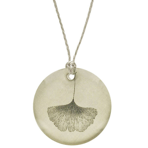 Everyday Artifact Ginkgo Leaf Pendant Necklace