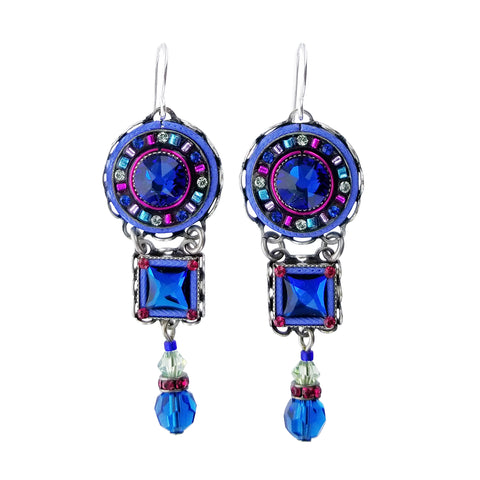 Firefly Designs Dolce Vita Sapphire Crystal Drop Earrings