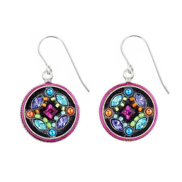 Firefly Botanical Circle Earrings