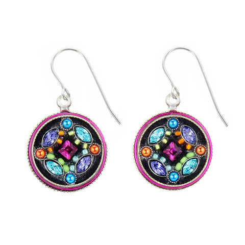 Firefly Mosaics Botanical Circle Earrings