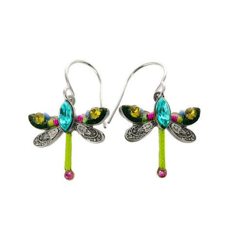 Firefly Mosaic Petite Dragonfly Earrings