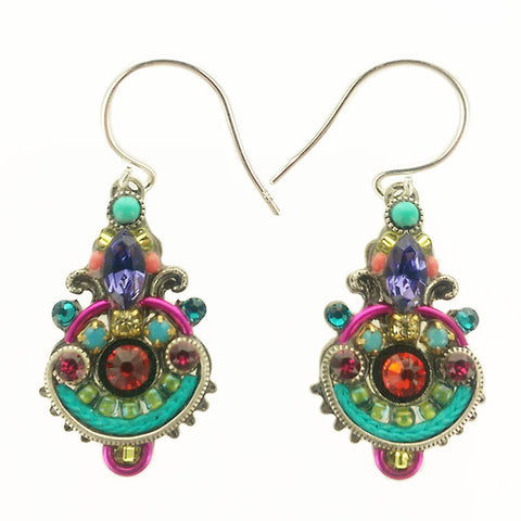 Firefly Mosaic Colorful Drop Earrings