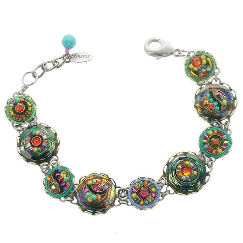 Firefly Colorful Mosaic Button Bracelet
