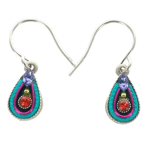 Firefly Mosaic Petite Teardrop Earrings