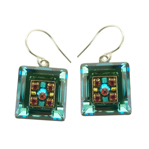Firefly Square Crystal Earrings