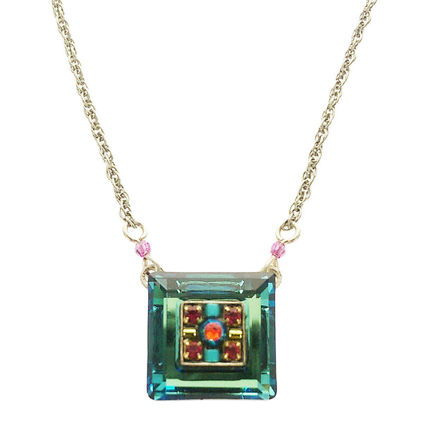 Firefly Square Crystal Necklace