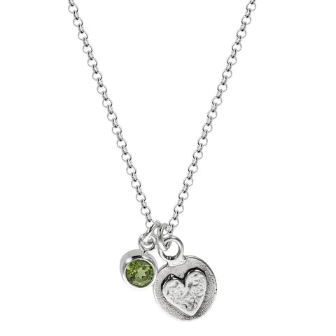 Follow Your Heart Inspirational Charm Necklace Another View