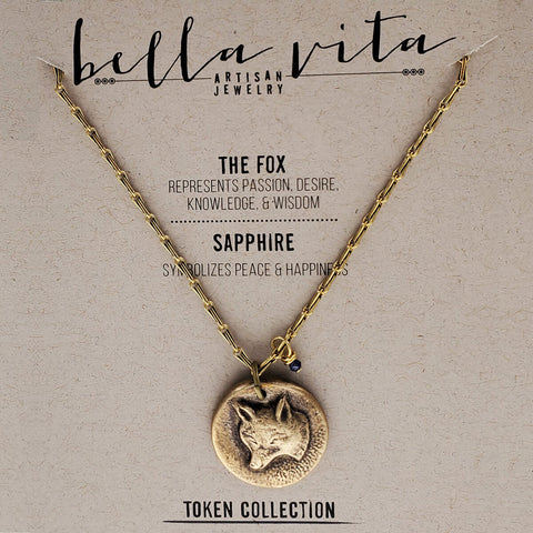 Fox Passion Wisdom Saphhire Happiness Necklace