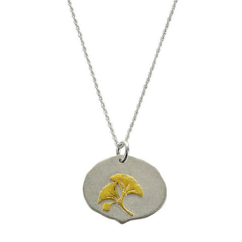 Gingko Gold Sterling Quote Necklace