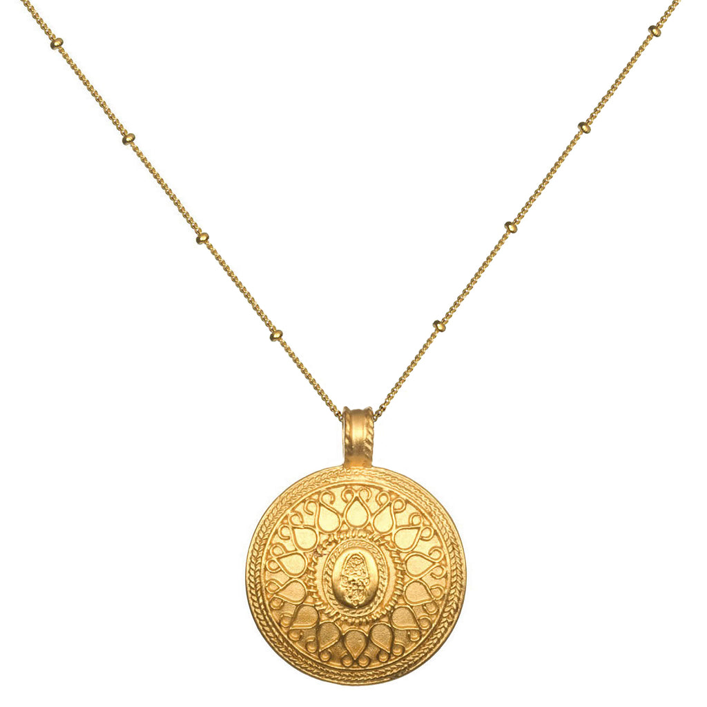 product silver nlace up rose holmes dominique mandala plated rg necklace gold