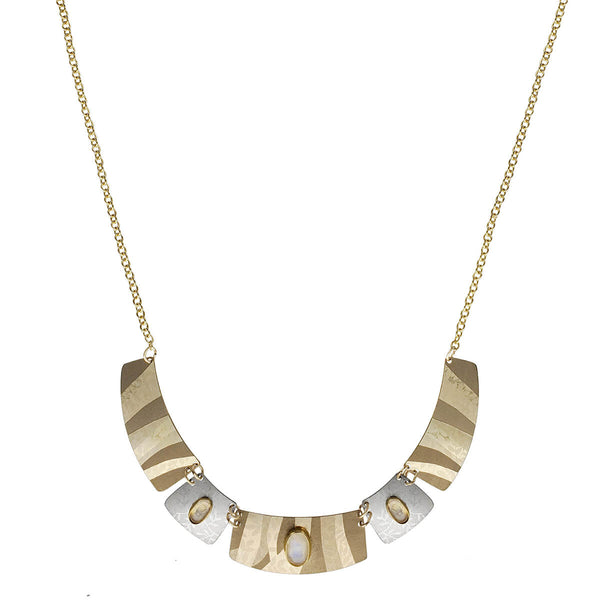 Holly Yashi Golden Branch Moonstone Links Necklace