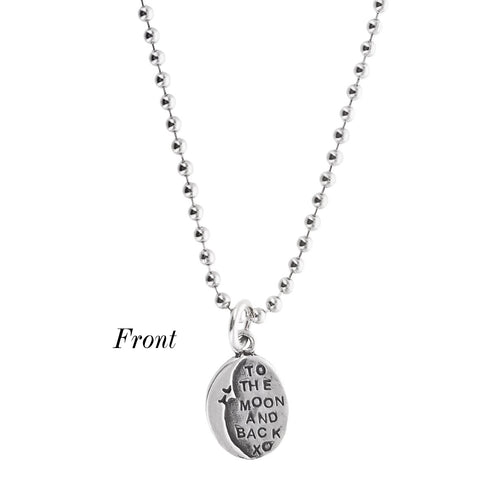 I Love You To The Moon And Back Necklace Sterling Silver