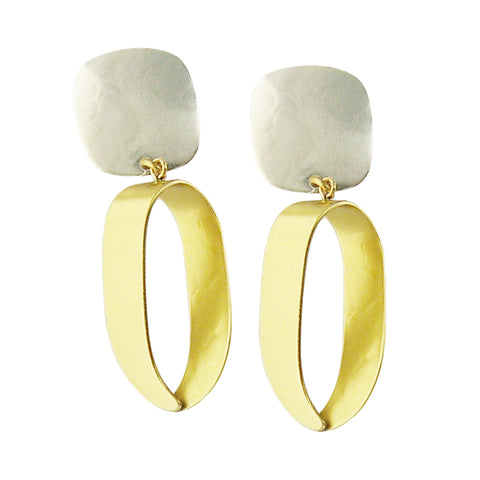 Marjorie Baer Open Twist Hoop Clip Earrings