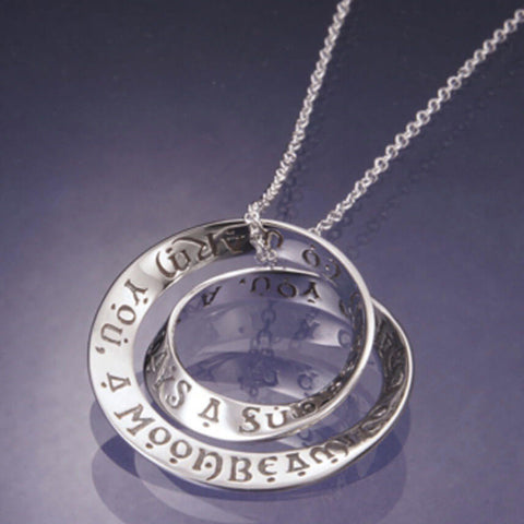 Irish Blessing Double Mobius Necklace