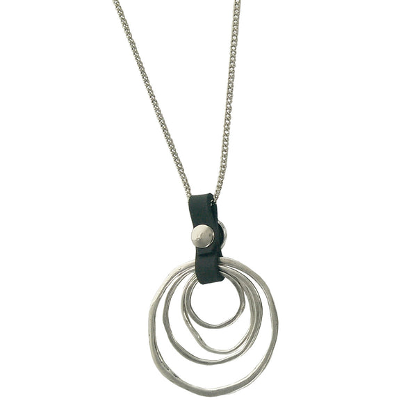 Israeli Organic Multi Hoops Anava Long Chain Necklace