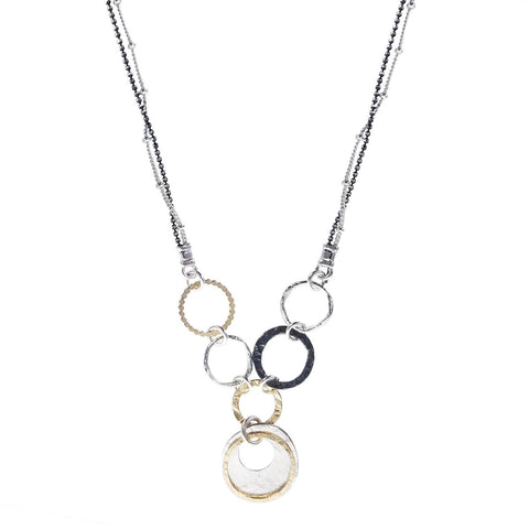 Israeli Dganit Hen Fresh Graceful Circles Pendant Necklace