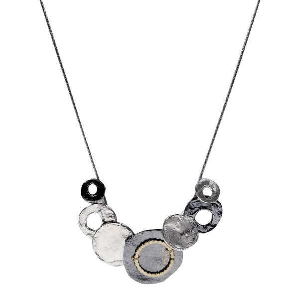 Israeli Dganit Hen Graduated Circles Necklace