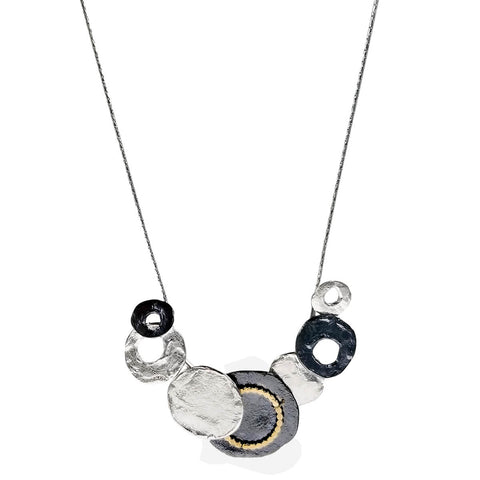 Israeli Dganit Hen Graduated Circles Necklace Another View