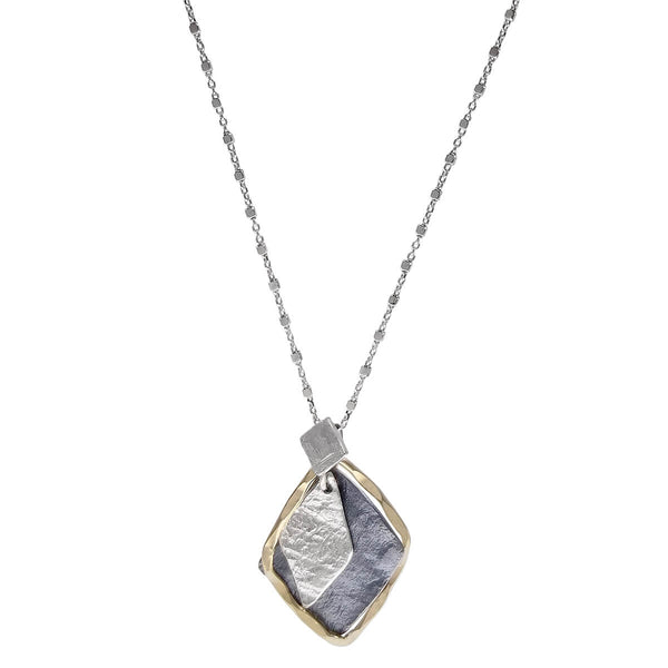 Israeli Dganit Hen Layered Diamonds Necklace