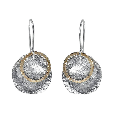 Israeli Dganit Hen Winter Moon Earrings