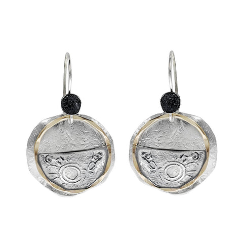 Israeli Dganit Rising Sun Earrings