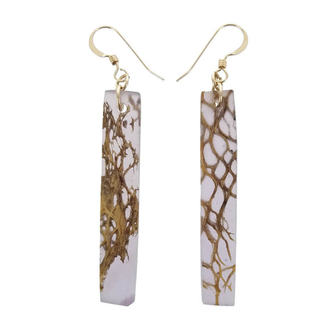 Israeli Ilana Hovev Cactus Honeycomb Bar Earrings