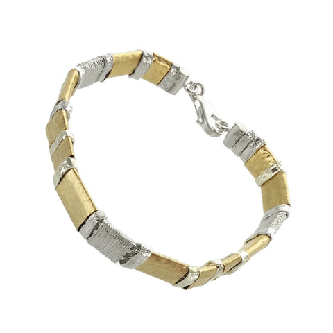 Israeli Gold Sterling Silver Bracelet By Ithil