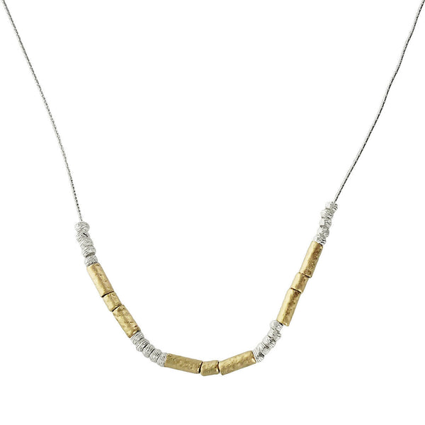 Israeli Gold Filled Sterling Silver Necklace By Ithil