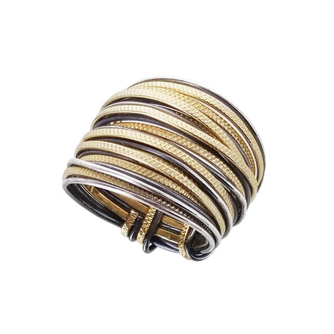 Israeli Ithil Interwoven Slender Strands Ring