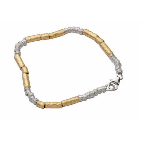 Israeli Silver Gold Bracelet By Ithil