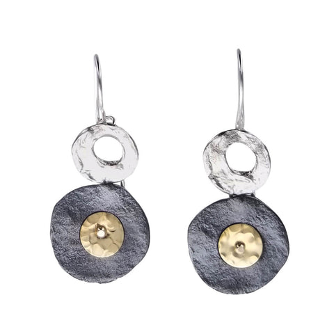 Israeli Rising Harvest Moon Earrings