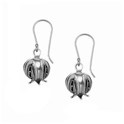 Israeli Yemenite Pomegranate Drop Earrings