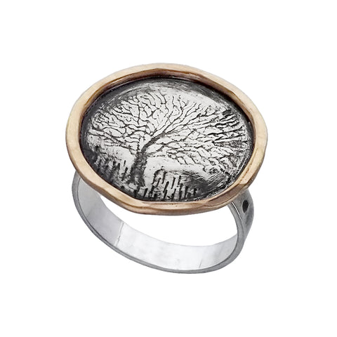 J & I Encircled Tree Of Life Ring