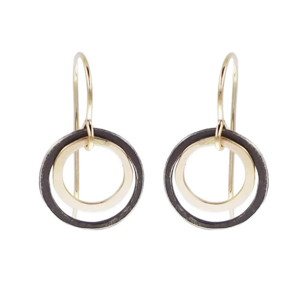J & I Rising Moon Double Hoop Earrings