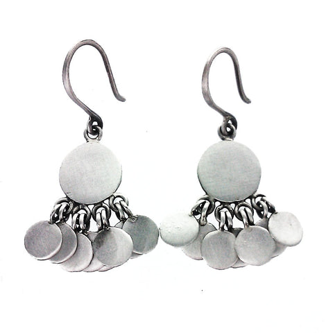 Jane Diaz Disc Earrings with Disc Dangles