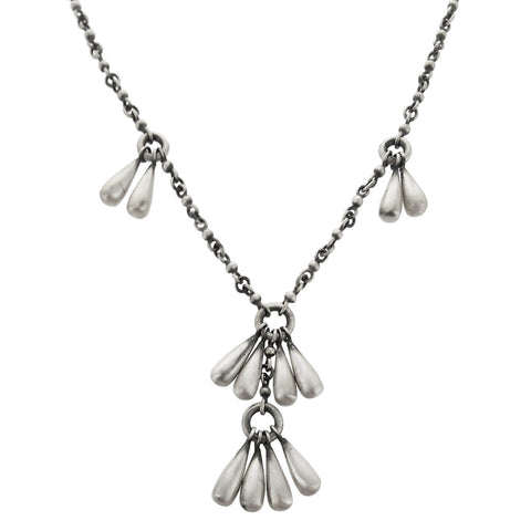 Jane Diaz Solid Sterling Teardrops Necklace