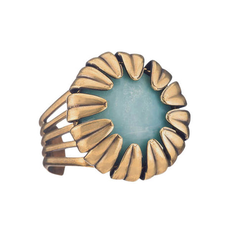 Jan Michaels Amazonite Blossom Ring