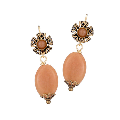 Jan Jan Michaels Filigree Oval Drop Earrings